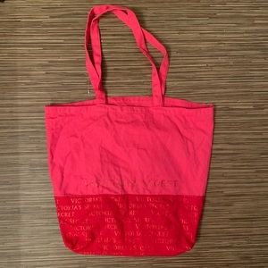 Victoria Secret Tote HandBag Pink And Red Two-tone